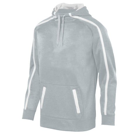 Augusta 5555 Youth Stoked Tonal Heather Hoody - Silver White
