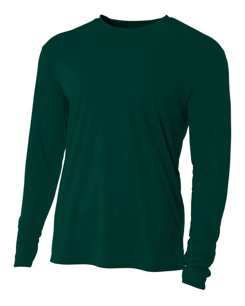 A4 N3165 Cooling Performance Long Sleeve Crew - Forest
