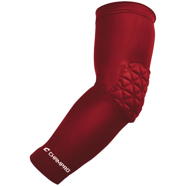 Champro FCAP Arm Sleeve with Elbow Padding - Scarlet