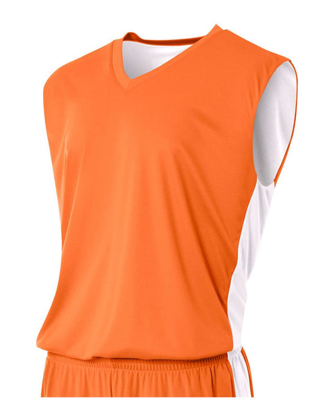 A4 NB2320 Youth Reversible Moisture Management Muscle - Orange White