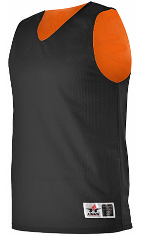 Alleson 560RY Youth Reversible Mesh Tank - Black Orange
