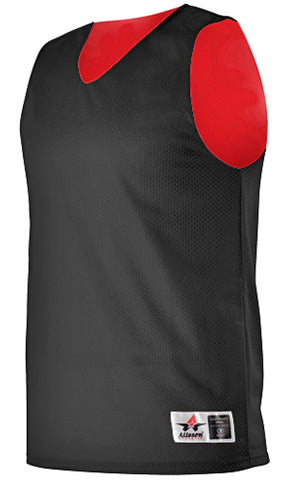Alleson 560RY Youth Reversible Mesh Tank - Black Scarlet