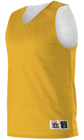 Alleson 560RY Youth Reversible Mesh Tank - Gold White