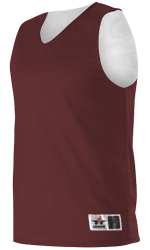 Alleson 506CRY Youth Reversible Tank - Maroon White