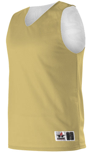 Alleson 560RY Youth Reversible Mesh Tank - Vegas Gold White