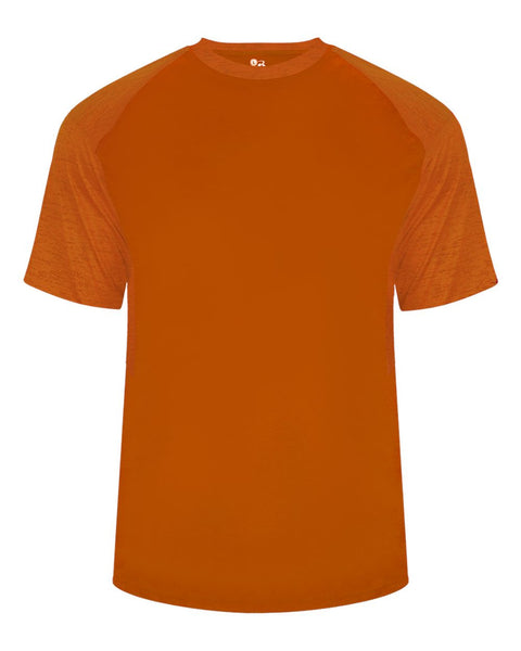 Badger 2178 Tonal Blend Youth Panel Tee - Orange Orange Tonal Blend - Baseball Apparel, Bowling, Casual Wear, Lacrosse/Field Hockey, Soccer, Training/Running - Hit A Double - 1