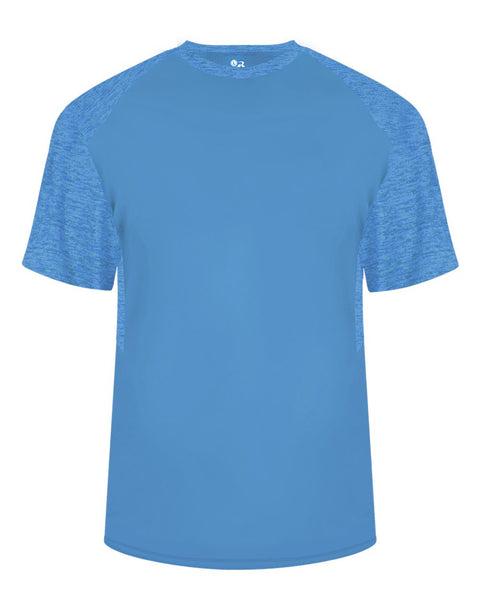 Badger 2178 Tonal Blend Youth Panel Tee - Electric-Blue Electric-Blue Tonal Blend - Baseball Apparel, Bowling, Casual Wear, Lacrosse/Field Hockey, Soccer, Training/Running - Hit A Double - 1