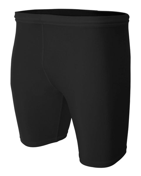 "A4 N5259 8"" Compression Short - Black - HIT A Double"