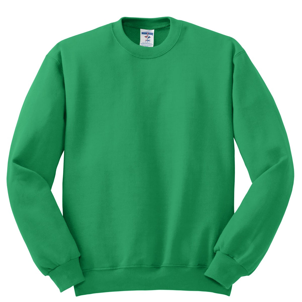 Jerzees 562M Nublend Crewneck Sweatshirt - Kelly - HIT A Double