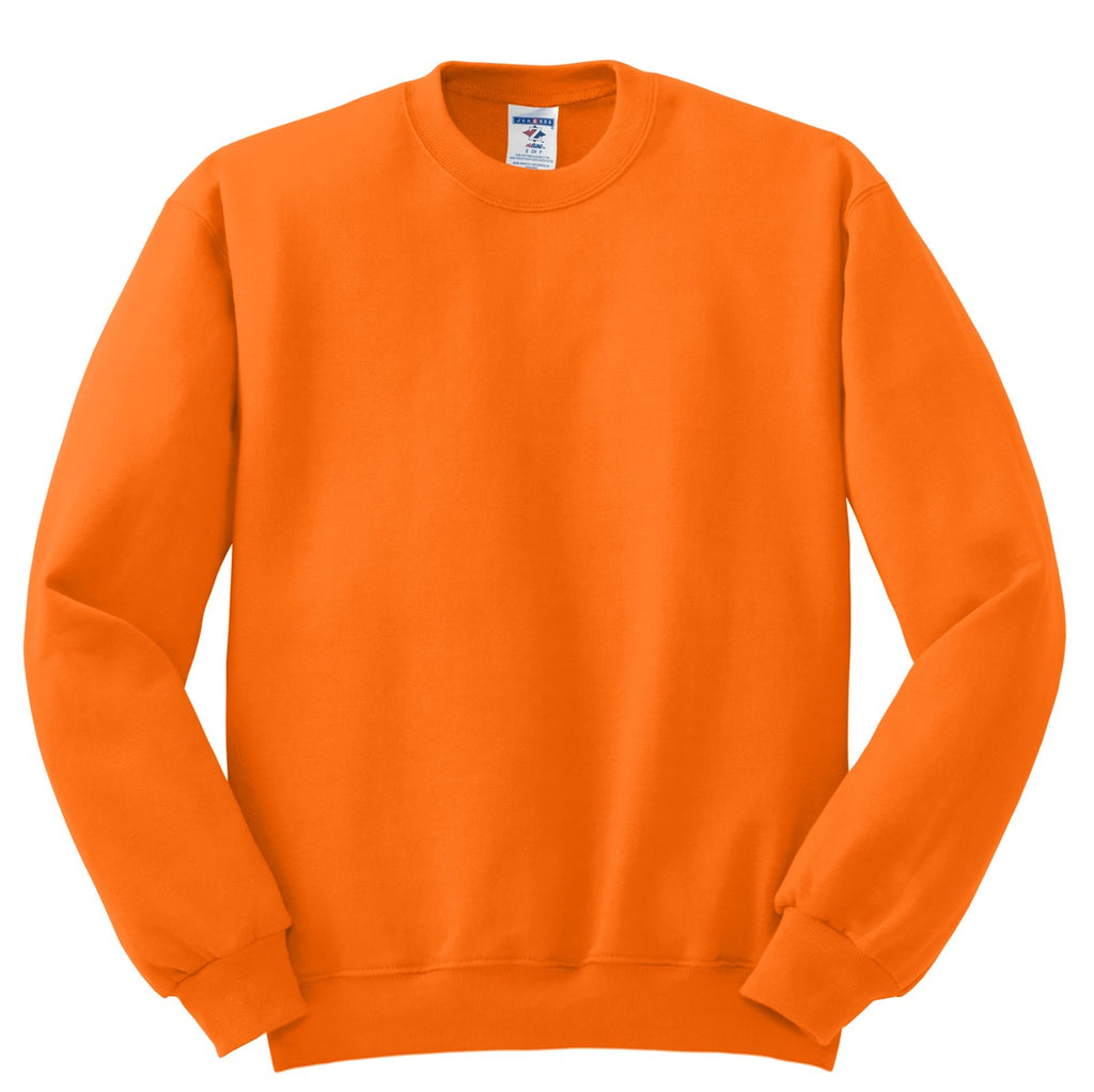 Jerzees 562M Nublend Crewneck Sweatshirt - Safety Orange - HIT A Double