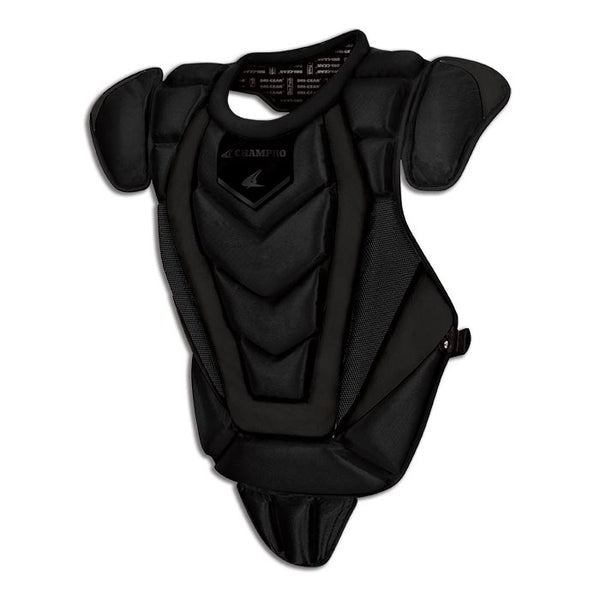 Champro CP82 Pro-Plus Senior League Chest Protector 16.5 - Onyx - HIT A Double