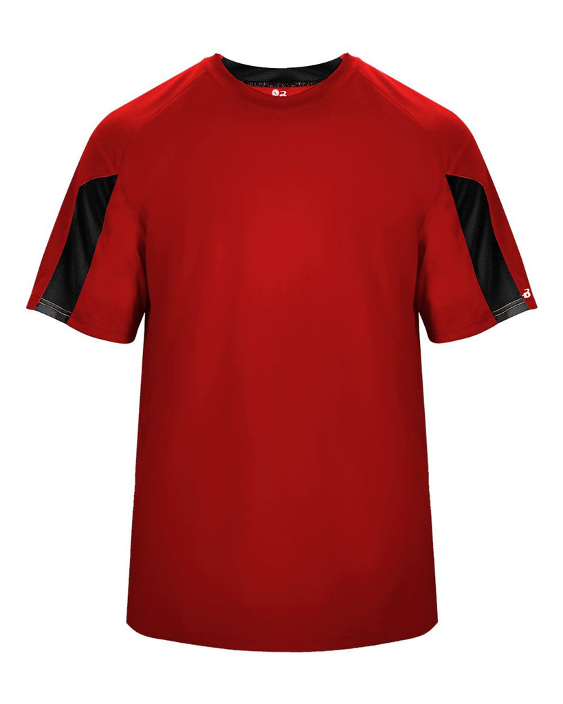 Badger 4176 Striker Tee - Red Black – HIT A Double efd21e96a