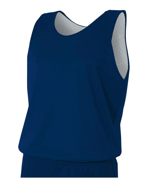 A4 N2206 Youth Reversible Mesh Tank - Navy White