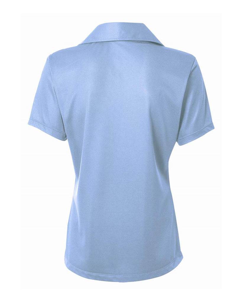 A4 NW3265 Women's Textured Performance Polo with Johnny Collar - Light Blue - HIT A Double