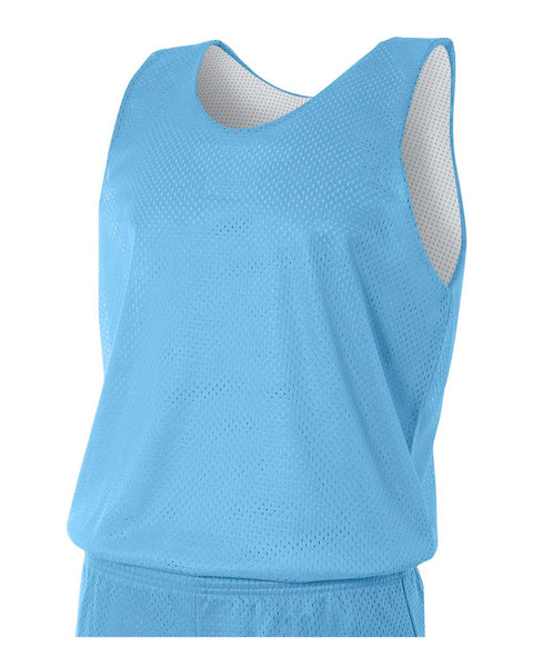 A4 N2206 Youth Reversible Mesh Tank - Light Blue White