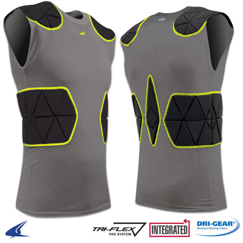 Champro FJU6 Tri-Flex Compression Shirt with Cushion System - Charcoal Black