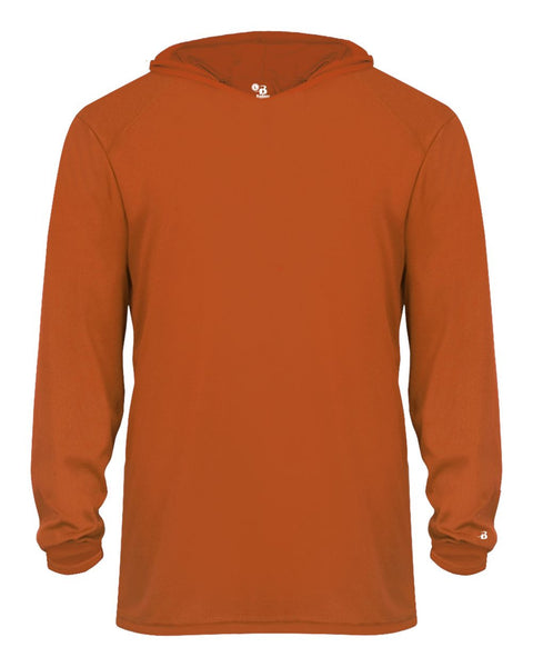 Badger 2105 B-Core Long Sleeve Youth Hood Tee - Orange - Outerwear - Hit A Double - 1