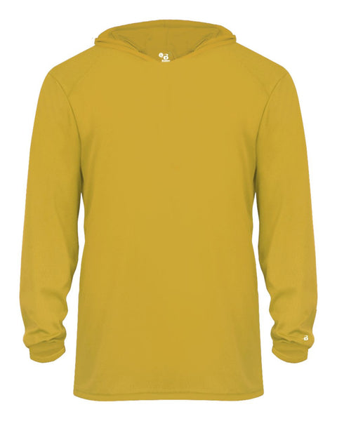 Badger 2105 B-Core Long Sleeve Youth Hood Tee - Gold - HIT A Double