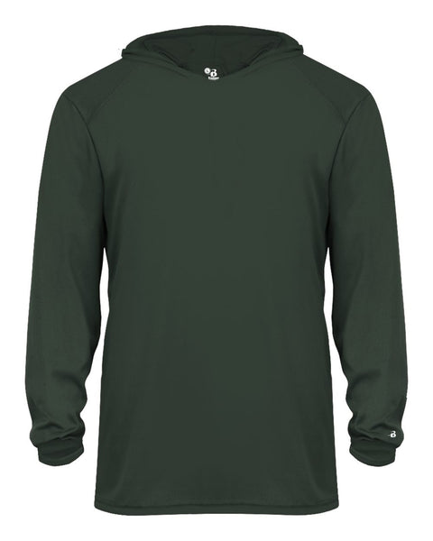 Badger 2105 B-Core Long Sleeve Youth Hood Tee - Forest - HIT A Double