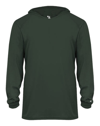 Badger 2105 B-Core Long Sleeve Youth Hood Tee - Forest - Outerwear - Hit A Double - 1