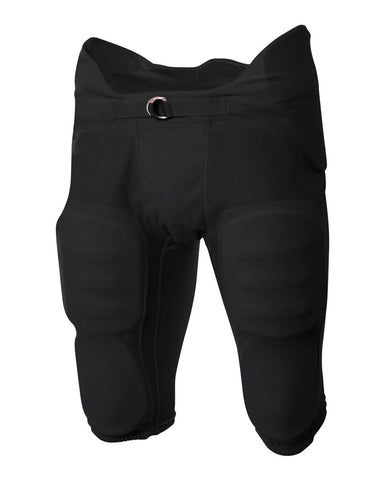 A4 NB6180 Youth Flyless Intergrated Football Pant - Black