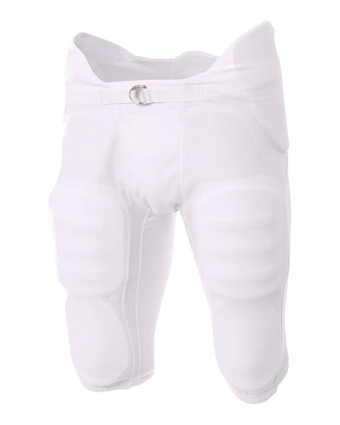 A4 NB6180 Youth Flyless Intergrated Football Pant - White - HIT A Double