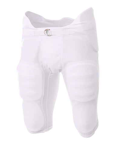 A4 NB6180 Youth Flyless Intergrated Football Pant - White