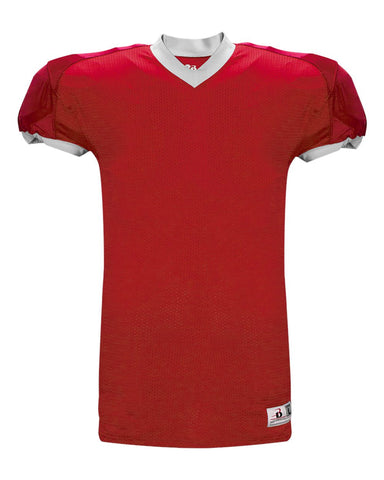 Badger 2490 Stretch Badger Jersey - Red White - Football - Hit A Double - 1