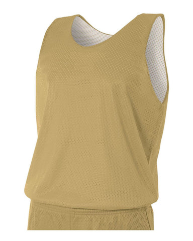 A4 N2206 Youth Reversible Mesh Tank - Vegas Gold White