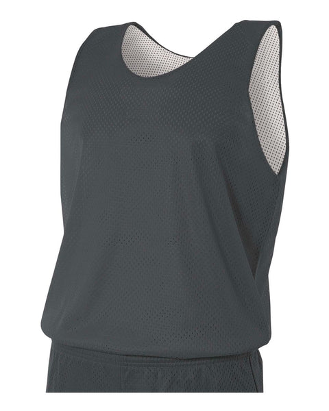 A4 N2206 Youth Reversible Mesh Tank - Graphite White
