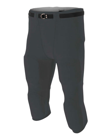 A4 N6181 Men's Flyless Football Pant - Graphite