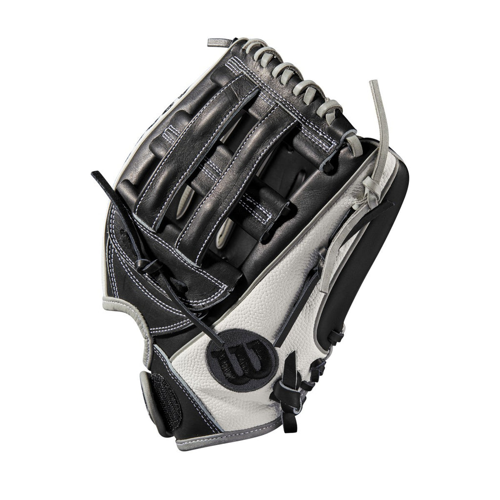 "Wilson 2019 A2000 F12 Superskin 12.00"" FP Infield Glove WTA20RB19FP12SS - White Black - Hit A Double - 4"
