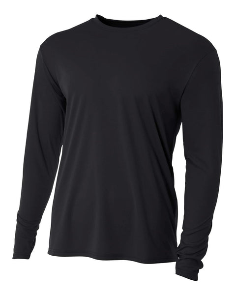 A4 N3165 Cooling Performance Long Sleeve Crew - Black