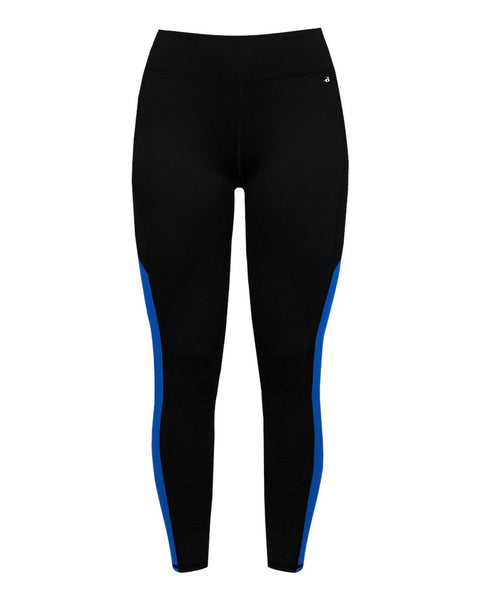 Badger 4637 Panel Ladies Tight - Black Royal - Compression - Hit A Double - 1
