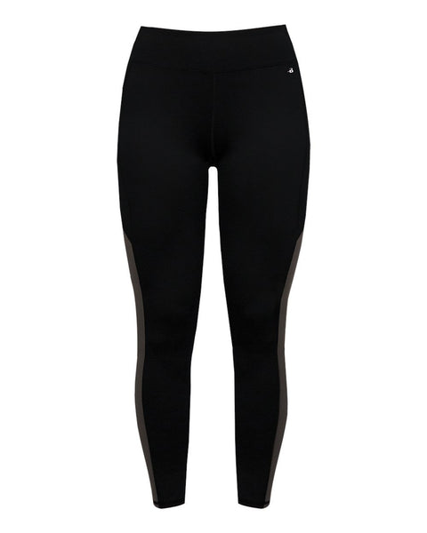 Badger 4637 Panel Ladies Tight - Black Graphite - Compression - Hit A Double - 1