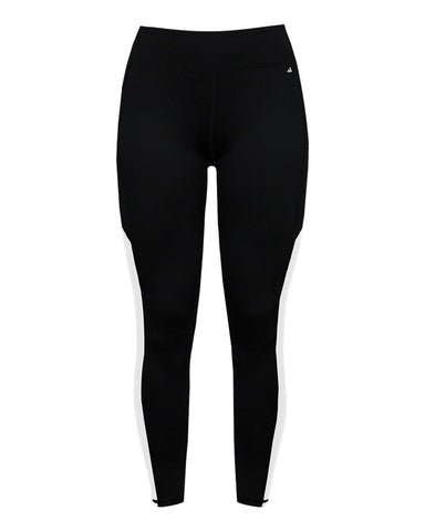 Badger 4637 Panel Ladies Tight - Black White - Compression - Hit A Double - 1