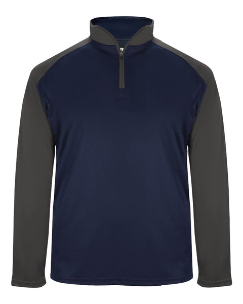Badger 4006 Ultimate Softlock Sport 1/4 Zip - Navy Graphite - Outerwear - Hit A Double - 1