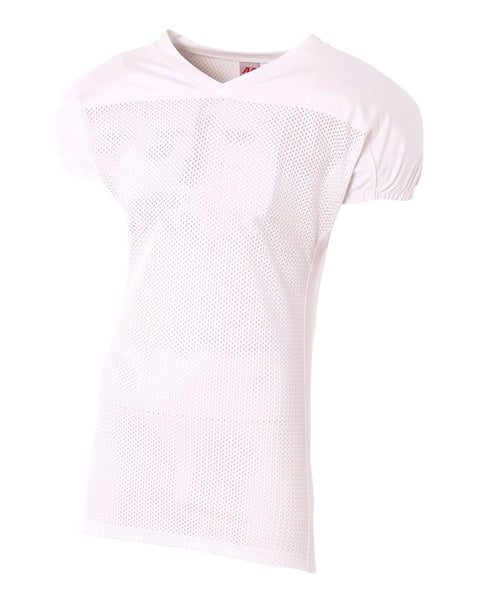 A4 NB4205 Youth Titan 4-Way Stretch Football Jersey - White