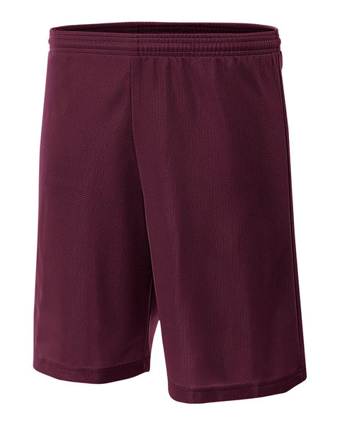 "A4 NB5184 Youth 6"" Lined Micromesh Shorts - Maroon"