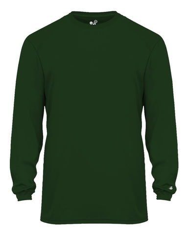 Badger 2004 Ultimate Softlock Youth Long Sleeve Tee - Forest