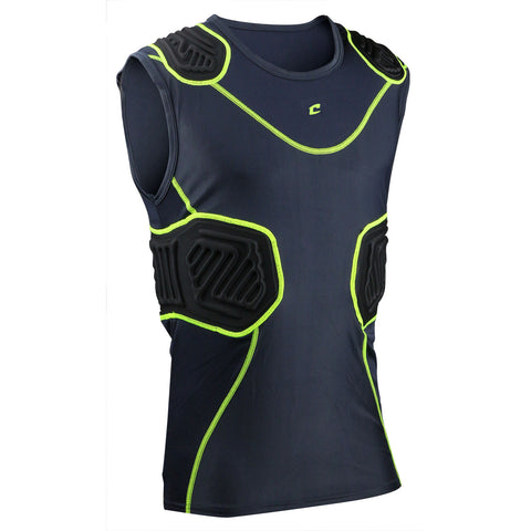 Champro FJU10 Bull Rush Compression Shirt - Charcoal Black