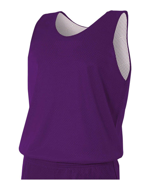 A4 N2206 Youth Reversible Mesh Tank - Purple White
