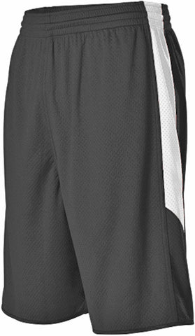 Alleson 589PSPY Youth Single Ply Reversible Short - Black White