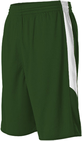 Alleson 589PSPY Youth Single Ply Reversible Short - Dark Green White