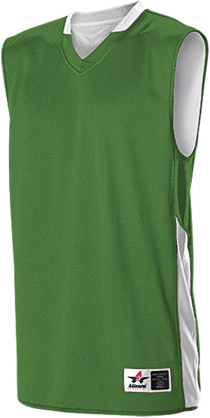 Alleson 589RSP Adult Single Ply Reversible Jersey - Kelly White
