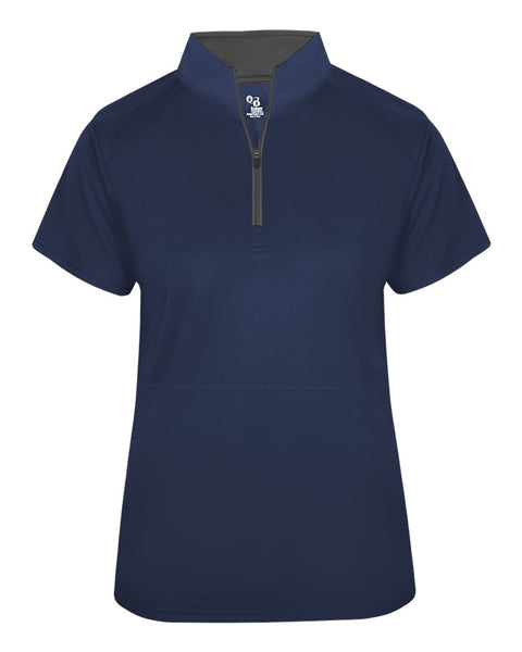 Badger 4149 B-Core Short Sleeve Ladies 1/4 Zip - Navy Graphite