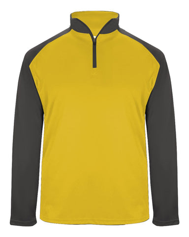 Badger 4006 Ultimate Softlock Sport 1/4 Zip - Gold Graphite