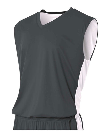 A4 N2320 Reversible Moisture Management Muscle - Graphite White