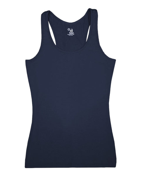 Badger 4666 Pro-compression Ladies Racerback - Navy