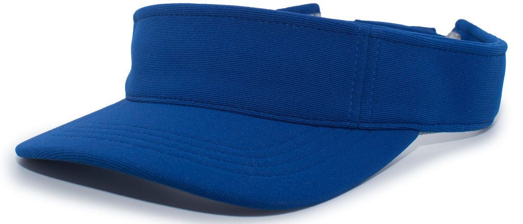 Pacific Headwear 598V M2 Performance Hook-and-Loop Visor - Royal - HIT A Double